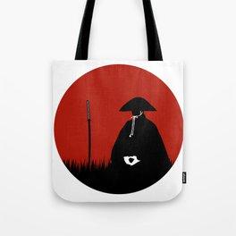Meditating Samurai Warrior Tote Bag