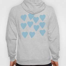 Hearts Pink on Blue Hoody