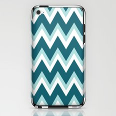 Teal Ombre` Chevron iPhone & iPod Skin