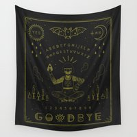 witchcraft Wall Tapestries featuring Ouija Board by LordofMasks