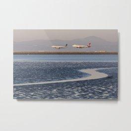 Planes Landing Metal Print