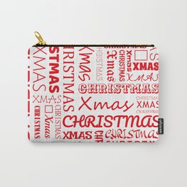 Christmas Typography Carry-All Pouch