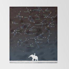 Falling star constellation Throw Blanket