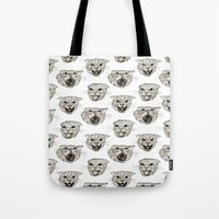 fear and loathing Tote Bags featuring Fear and Loathing by Emily Firth