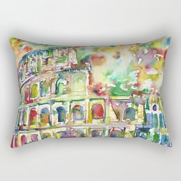 COLOSSEUM - watercolor painting Rectangular Pillow