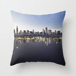 Chicago In Time Throw Pillow