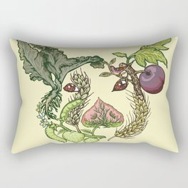 Botanical Pig Rectangular Pillow