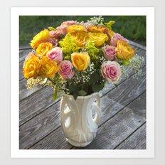 McCoy Vase with Roses Art Print