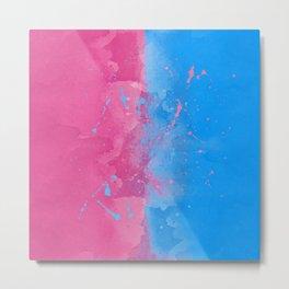 Pink or Blue Sleeping Beauty Inspired Metal Print