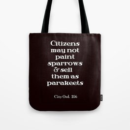 City Ord.  256 Tote Bag