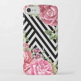 flowers geometric iPhone Case