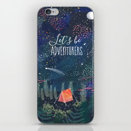 Let´s be adventurers iPhone Skin
