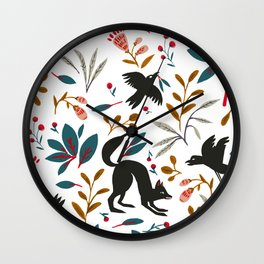 Crows Nest Wall Clock