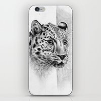 leopard iPhone & iPod Skins featuring Leopard by Anna Tromop Illustration