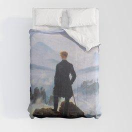 "Caspar David Friedrich ""Wanderer above the sea of fog"" Comforters"