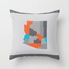 Arizona State Map Print Throw Pillow