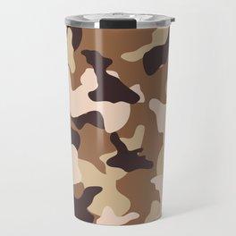 Desert camo sand camouflage army pattern Travel Mug