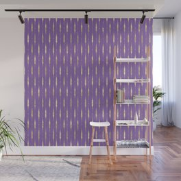 old violet great coat. Wall Mural