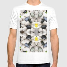 Pebble wash rock river new design 2016 SMALL Mens Fitted Tee White