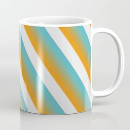 Green blue brown stripples Coffee Mug