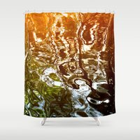 illusion Shower Curtains featuring Illusion by Kitsmumma