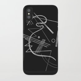 Kandinsky - Black Background Abstract art iPhone Case