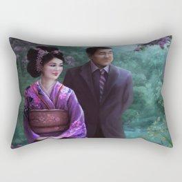 Sakura Garden Rectangular Pillow