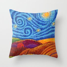 Grounding Hills Throw Pillow
