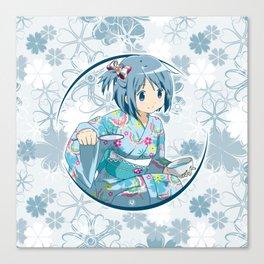 Sayaka Miki - Yukata edit. (rev. 1) Canvas Print