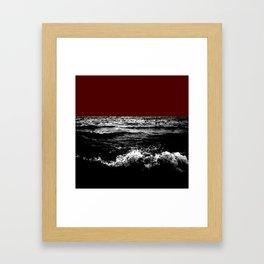 Black Wave w/Dark Red Horizon Framed Art Print