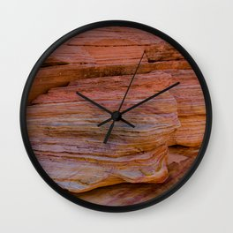Colorful Sandstone, Valley of Fire - IIa Wall Clock