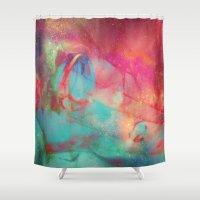 aurora Shower Curtains featuring AURORA by Adaralbion