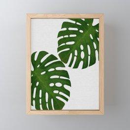 Monstera Leaf II Framed Mini Art Print