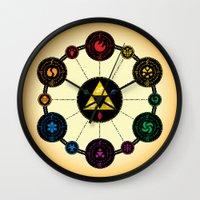 hyrule Wall Clocks featuring Hyrule Macrocosmica by Jude Buffum