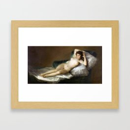 Maja Desnuda (The Nude Maja) by Francisco Goya Framed Art Print