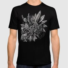 Aztec Great Lizard Warrior 1 (Triceratops) Mens Fitted Tee MEDIUM Black