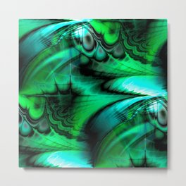 Organic Thought (emerald) Metal Print
