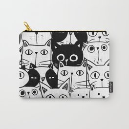 MONOCHROME CAT PATTERN Carry-All Pouch