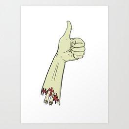Right Handed Art Print