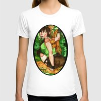 megan lara T-shirts featuring Lara Croft by Jazmine Phillips