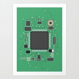 Chip set Art Print