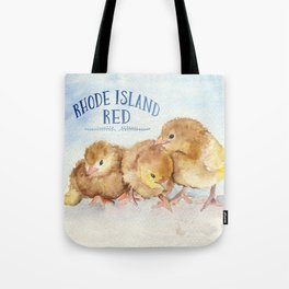 Rhode Island Red Chicks Tote Bag