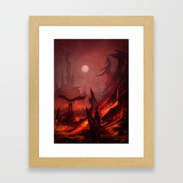 Fire & Brimestone Framed Art Print