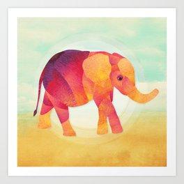 Shanti Sparrow: Martha the Elephant Art Print