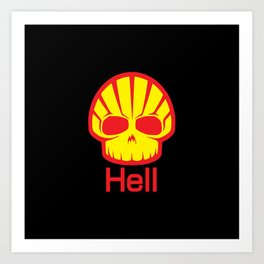 Hell Shell Skul Art Print