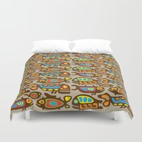 pisces Duvet Covers featuring Pisces by Olya Yang