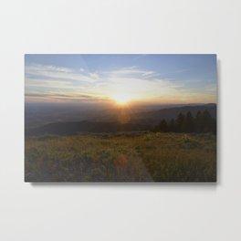 Lucky Peak Sunset Metal Print