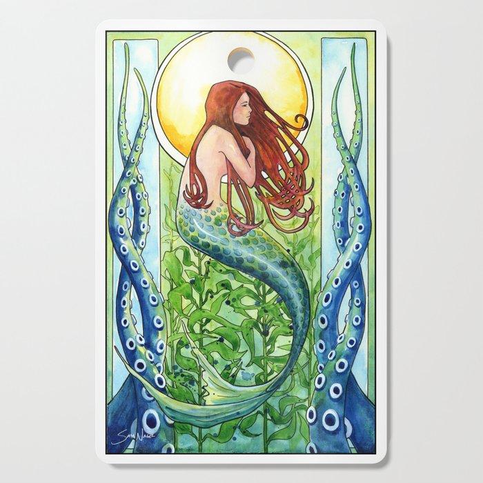 Kelp Forest Mermaid Cutting Board