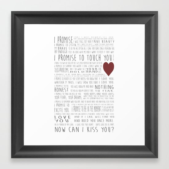 I promise to touch you Framed Art Print by andycharrington   Society6