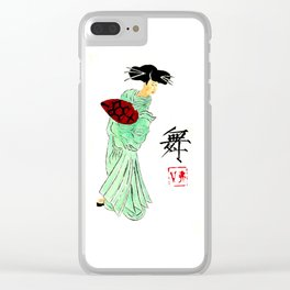 Asian Woman Dancing Clear iPhone Case